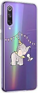 Oihxse beschermhoes van siliconen voor Huawei Honor Play, transparant, TPU, ultradun, zacht, met motief [olifant Lapin], k...