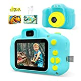 DYY Dinosaur Theme Kids Camera HD 1080p Video Selfie Digital Camera for Kids Dream Gift for 3 4 5 6 7 8 Years Old Boys and Girls Toddler Video Record Camera with 32GB SD Card 2.0 Inch IPS Screen