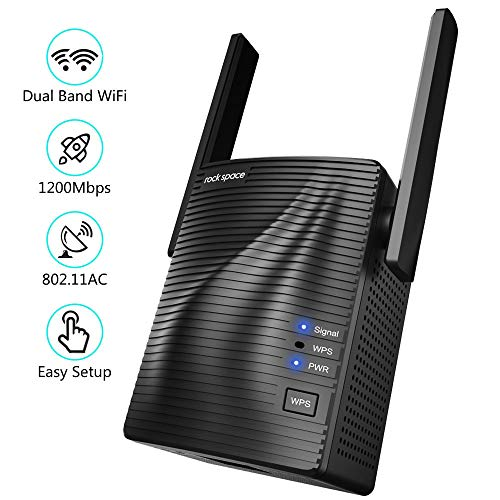 Ripetitore WiFi – AC1200 WiFi Extender Dual Band 5GHz/2.4GHz con Access Point/Gigabit Ethernet/WPS, Ripetitore Segnale WiFi Copertura a 200㎡, Extender