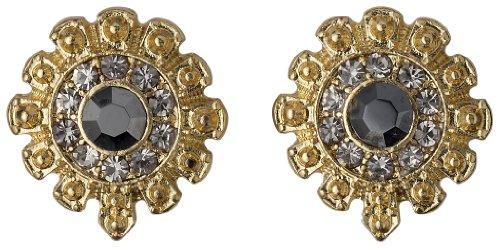 Pilgrim Jewelry Damen-Ohrstecker Messing Pilgrim Damen-Ohrstecker aus der Serie Russian loving vergoldet,grau 1.5 cm 231332103