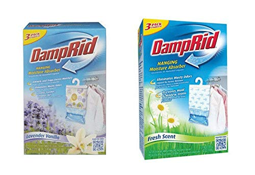 Read About Damp Rid FG83K or FG83LV Hanging Moisture Absorber - 3 Pack DampRid NEW!!