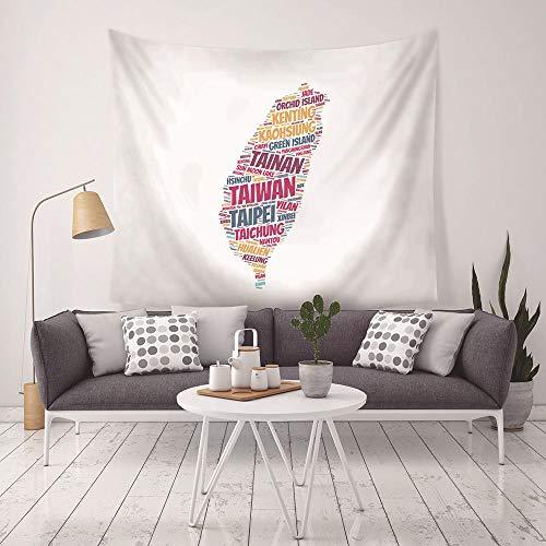 Tapiz Retro Mapa del mundo Tapiz para colgar en la pared Almohadilla para dormir Tapiz de pared Arte Toalla redonda Manta de playa Tapiz de mapa 150x100cm