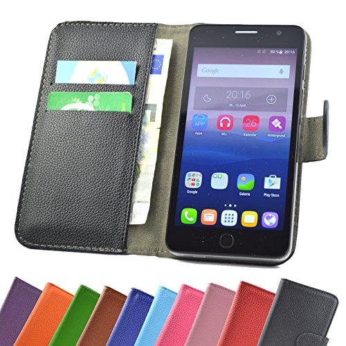 ikracase Hülle für MEDION Life P5005 Handy Tasche Hülle Schutzhülle in Schwarz