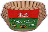 Melitta  8-12 Cup Basket Coffee Filters, Natural Brown, 200 Count (Pack of 8)