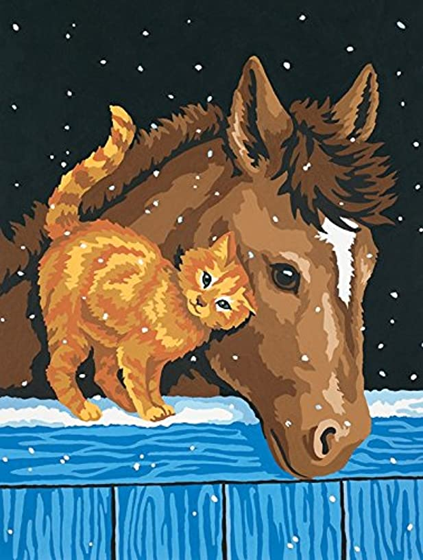 Dimensions Pony and Kitten Paint by Numbers for Adults, 9'' W x 12'' L