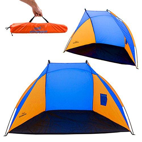 AMANKA Familien Strandmuschel UV-Schutz 120x210x120cm Kinder Strandzelt Baby Windschutz Sonnenschutz Wasserdicht Leicht