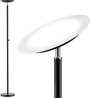 Torchiere Floor Lamp, Lakumu LED Floor Lamp, Stepless Dimmable, Tall Free Standing Light, 5000K Daylight White, Modern Sky La