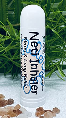 Urban ReLeaf NETI Salt Air Relief INHALER! Fast Relief. Soothing Sinus & Lung, Himalayan Salt & Botanicals! Respiratory Wellness. Healing Aromatherapy. Energizing! 100% Natural, Vegan, Made in the USA