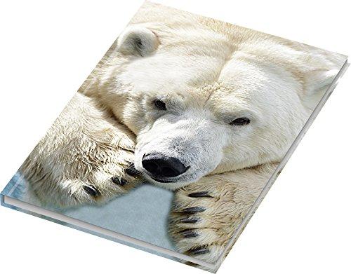 """RNK 46717 - Kladde/Notizbuch\""""Eisbär\"""", blanko, DIN A4, 96 Blatt, 70 g/m², 1 Stück"""