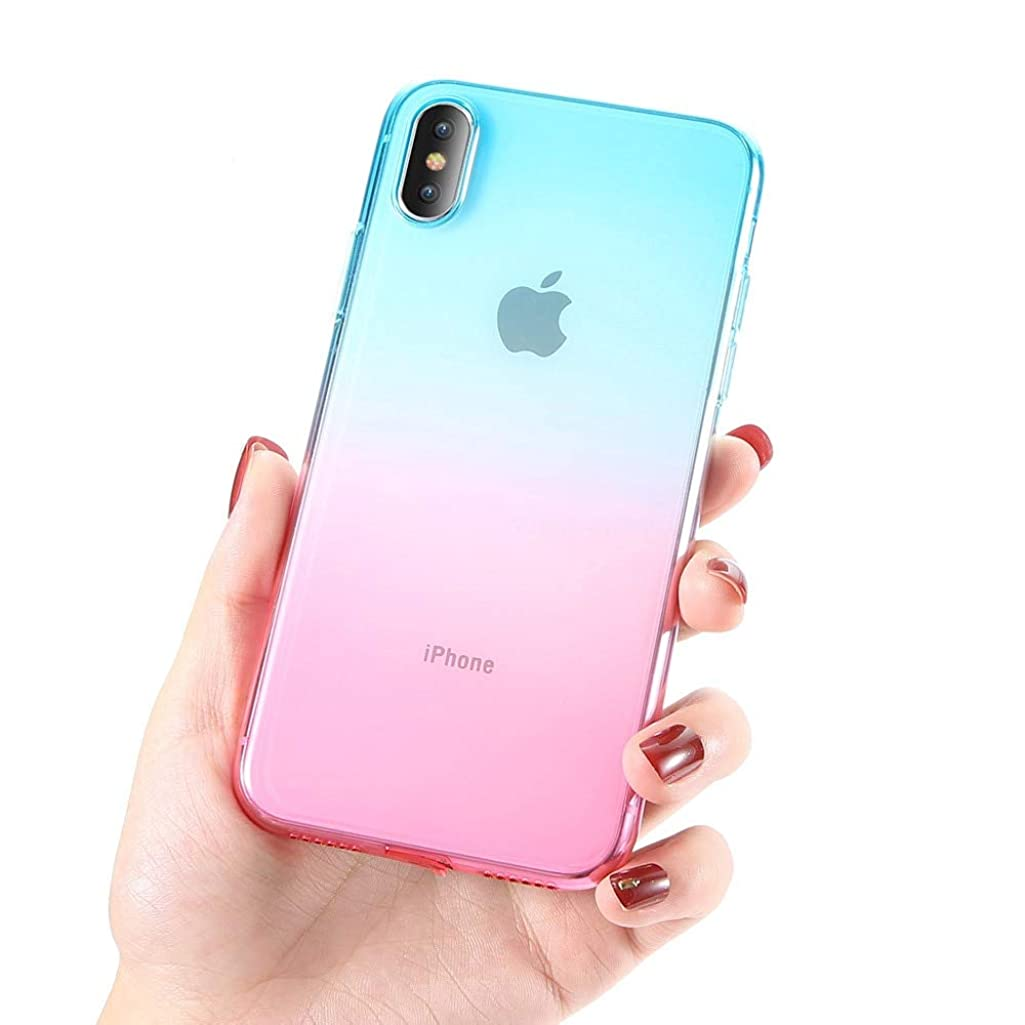 Fitted Cases - Gradient Soft Case For Iphone 7 8 6 Plus Ultra Thin Clear Cover For Iphone 6 6s Plus Phone Case For Iphone X 10 5 5s - For Iphone 8 Plus Green Pink - Storage Protein Stuffed