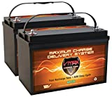 Qty 2: VMAX SLR125 AGM Sealed Deep Cycle 12V 125Ah Batteries for Use with Pv Solar Panels,Smart Chargers Wind Turbine and Inverters