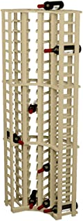 Wine Cellar Innovations Rustic Pine Curved Corner Wine Rack for 84 Wine Bottles, Unstained