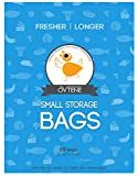 """OVTENE Food Storage Bags for Cheese, Meat, and Produce - Keeps Food Fresher Longer (20 Small bags 10.5""""x7.25"""")"""