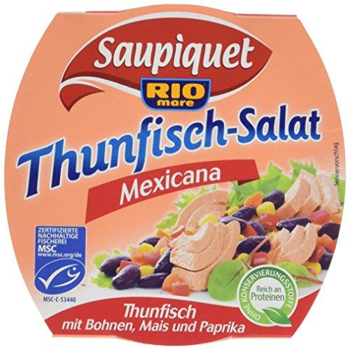 Saupiquet Rio Mare Thunfisch-Salat Mexicana, 160g, MSC zertifiziert, Fix und fertig zubereitet, Ideal für unterwegs
