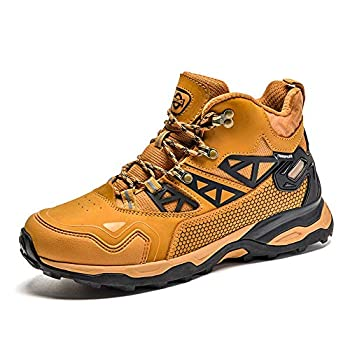 Idea Frames hommes chaussures de randonnée imperméables en plein air anti-dérapant bottes de randonnée sportive confortable léger en plein air randonnée trekking chaussures marron 41