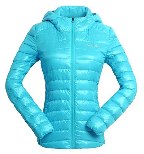 Polar Fire Damesjas met capuchon, lichtgewicht, gevoerd, met eend naar beneden, winterjas, duurzaam, waterbestendig, warmte, dames, buiten jas