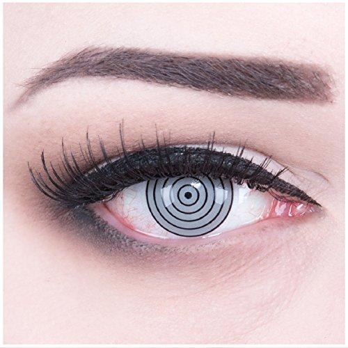 Farbige Funnylens Anime Crazy Fun graue Kontaktlinsen Rinnegan Eye perfekt zu Fasching, Karneval und Halloween mit gratis Behälter und 60ml Pflegemittel Topqualität