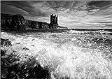 Poster 18 x 13 cm: Keiss Castle, Wick, Schottland von
