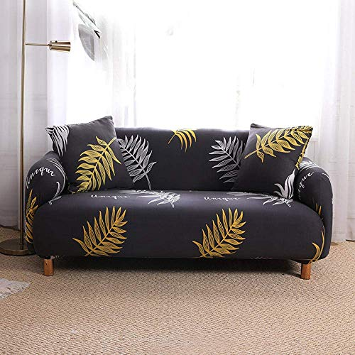 WLVG Fundas para sofá de 1 2 3 4 plazas, funda elástica en forma de L, para sofá, cama, perro, gato, 145 – 185 cm