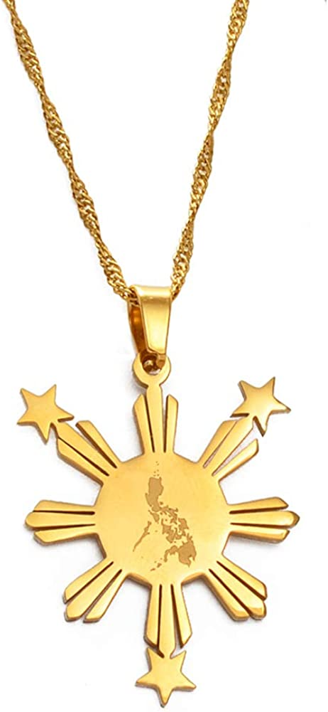 SWAOOS Philippines Map Flag Pendant Co for Women New product Necklaces Men Max 46% OFF