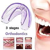 大人の歯のための透明で柔らかくそして堅い3段階、3Pcsをまっすぐにするハイテクな歯科歯科矯正学の矯正装置