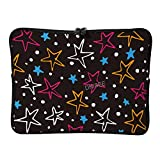DKISEE - Funda para portátil de 17 pulgadas, diseño de estrellas coloridas para hombres y mujeres, compatible con MacBook Air/MacBook Pro de dos vías, con cremallera y bolsa de transporte, SDS289