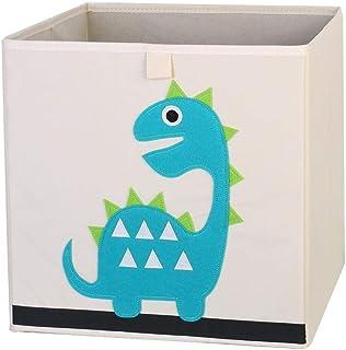 ZXXFR Panier À Linge Sale,Cute Cartoon Animal Dinosaure Broderie Broderie Tissu Oxford Boîte De Rangement Pliable Organisa...