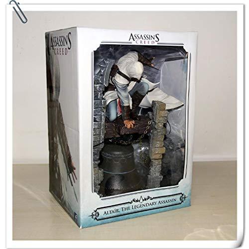 LBBD Creed Assassin Batas Busto del Gran Altaïr Assassin Estatua Figura de acción de Exquisita Caja de Regalo del Ventilador - 25cm