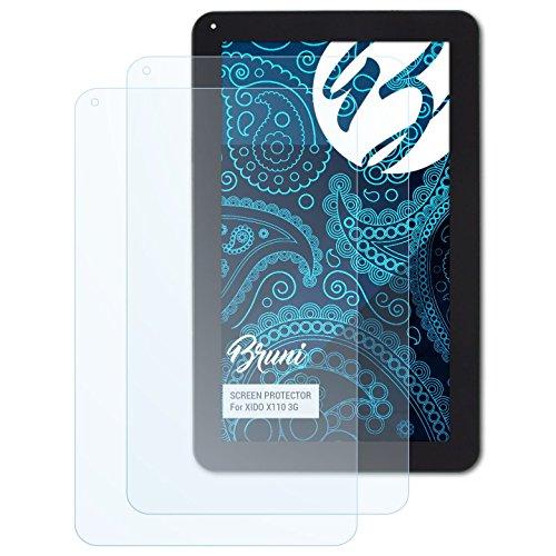 Bruni Schutzfolie kompatibel mit XIDO X110 3G Folie, glasklare Displayschutzfolie (2X)