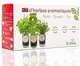 Cultivea – Kit Prêt à Pousser d'Herbes Aromatiques – Graines Françaises 100% Écologiques et Bio – Jardin...