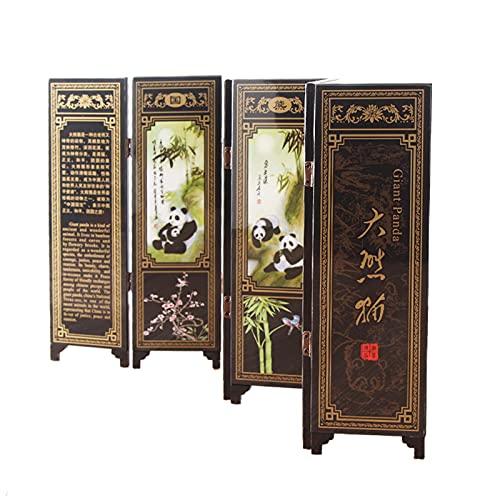 BEYOHIR Chinois Antique Peinture Paravents Bureau Décoration Décorations Laque Mini Séparations Panneau Arts Cadeaux de Collection, 6 Panneaux