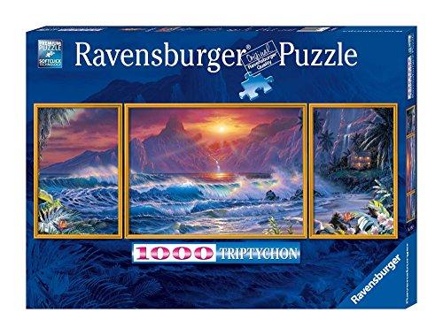 Ravensburger 19993 - Lassen: Strandpanorama - 1000 Teile Triptychon 1000 Teile Puzzle