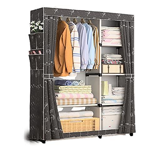 LJWLZFVT Armario plegable para guardarropa portátil, para camping, armario, plegable, se puede utilizar en dormitorio, pasillo y vestidor (tamaño: 105 x 45 x 170 cm, color: C)