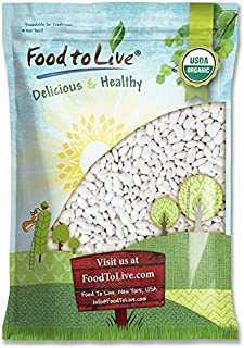 Organic Great Northern Beans (Dried, Non-GMO, Kosher, Raw, Sproutable, Bulk Seeds, Product of the USA) — 10 Pounds