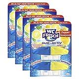 WC FRISCH Duo-Aktiv Mediterrane Zitrone, WC-Reiniger und Duftspüler, Nachfüllpack, 4er Pack (4 x 2 Stück)