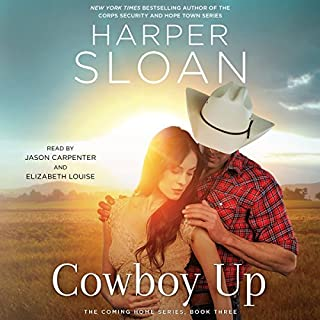 Cowboy Up     The Coming Home Series, Book 3              Written by:                                                                                                                                 Harper Sloan                               Narrated by:                                                                                                                                 Elizabeth Louise,                                                                                        Jason Carpenter                      Length: 8 hrs and 12 mins     1 rating     Overall 4.0