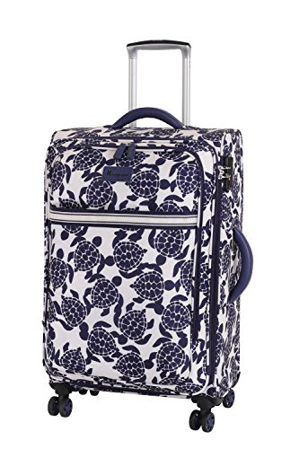 it luggage Nautical Turtles 8 Wheel Lightweight Semi Expander Medium Suitcase, 66 cm, 78 L, Navy/Cream Sea Turtles Print