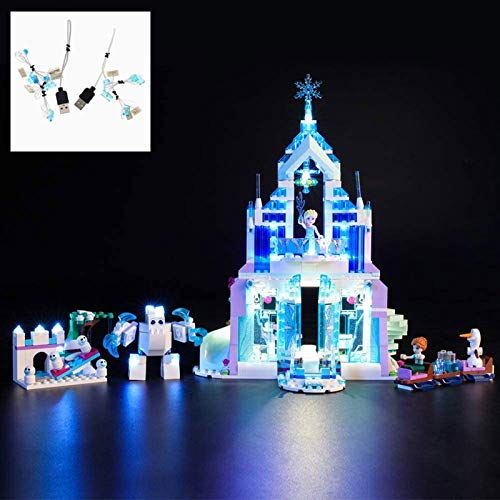 ADMLZQQ USB LED Light Kit para Lego 41148, Iluminación Building Blocks Ladrillos para Lego Elsa's Magical Ice Palace Building Kit (Modelo NO Incluido)