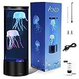 Lámpara de acuario de medusas Lámpara de medusas de fantasía que cambia de color Regalo de luz de humor para niños Hombres Mujeres Decoración del hogar para la habitación