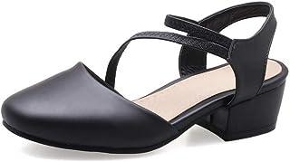 BalaMasa Womens ASL06393 Pu Block Heels