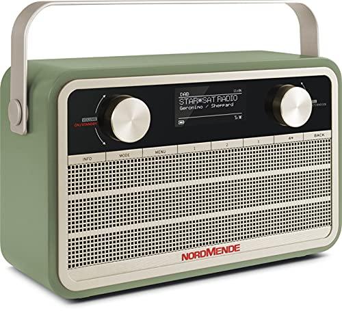 Nordmende Transita 120 IR tragbares Internetradio (DAB+ Radio, UKW, WLAN, 24 Stunden Akku, Wecker, Sleeptimer, Kopfhöreranschluss, 5 Watt Mono-Lautsprecher) grün