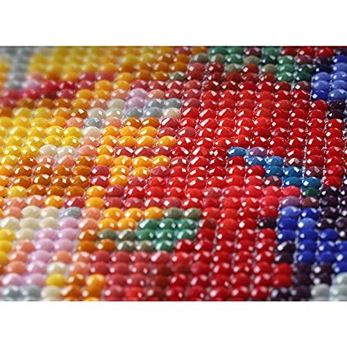 Kit de pintura de diamantes 5D diamante de cubo de cristal de rubik decoración de flores bordado punto de cruz de imitación en el lienzomanualidades para adultos para el hogar 30 x 40 cm