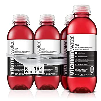 vitaminwater xxx electrolyte enhanced water w/ vitamins açai-blueberry-pomegranate drinks 16.9 fl oz 6 Pack