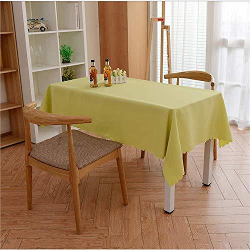 SONGHJ Hotel Tischdecke einfarbig Leinwand Tischdecke Konferenz Tischdecke Werbung westlichen Restaurant Tischdecke halb vertikal Quadrat B 120x180cm