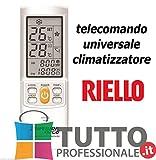 TELECOMANDO CONDIZIONATORE CLIMATIZZATORE RIELLO UNIVERSALE