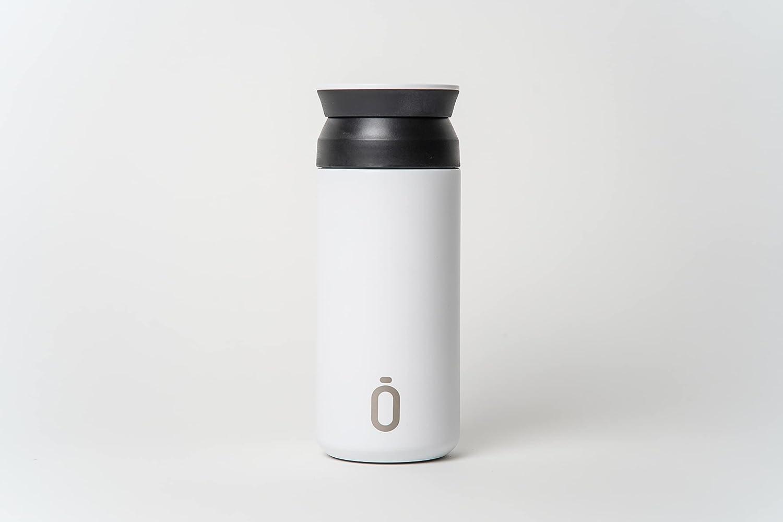 Runbott CAFE Botella Termo Ceramica - Acero térmico sin BPA con Recubrimiento Interno de cerámica (BLANCO)