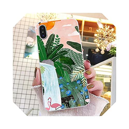Travel Summer Time Swimming Pool Art Paint Phone Case for iPhone 11 Pro Max Case for iPhone 12 Pro Max XS Max XR SE2 8 7 Plus X-TPU-for iPhone 12 mini