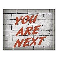 Assanu あなたが白いレンガの壁に赤いテキストで次に来る言葉風呂敷滑り止めの床の出入り口屋外屋内玄関マット、16X24インチのバスマット