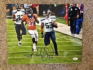 Malcolm Smith Seattle Seahawks Sb Xlviii Mvp Autographed Signed Memorabilia 11X14 Photo JSA/Coa