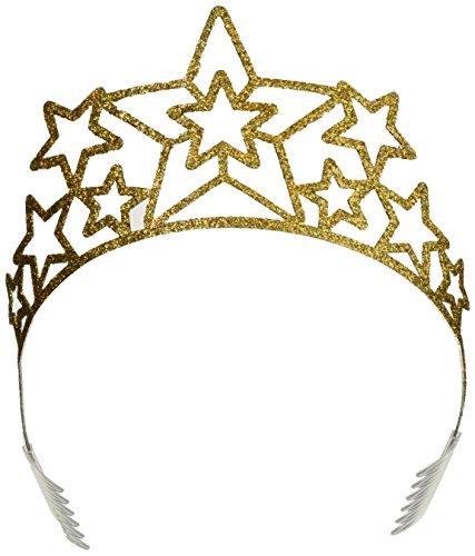Beistle Gold Glitter Star Tiara-1 Pc